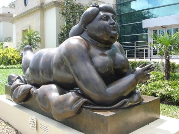 Fernando-Botero-Reclining-girl-with-cigarette