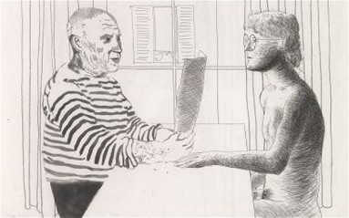 Artista y Modelo - David Hockney