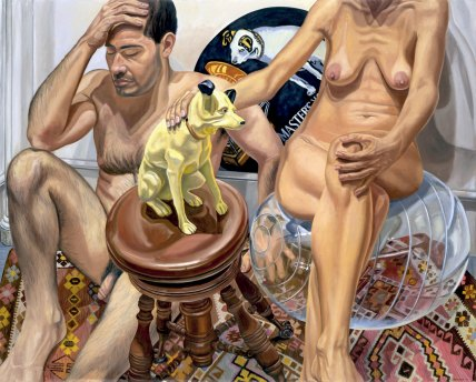 Hombre y mujer desnudos con la voz de su amo y pelota de ejercicio - Pearlstein