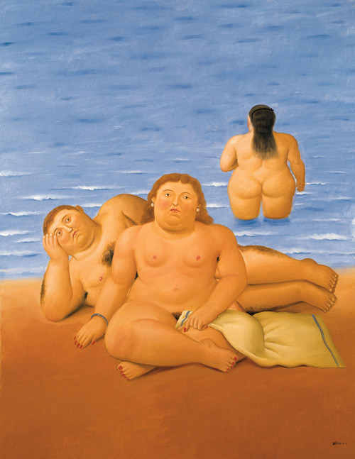 La playa - Fernando Botero
