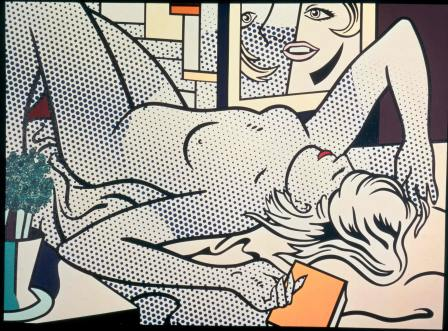 Roy-Lichtenstein-Nude-with-Abstract-Painting-1994