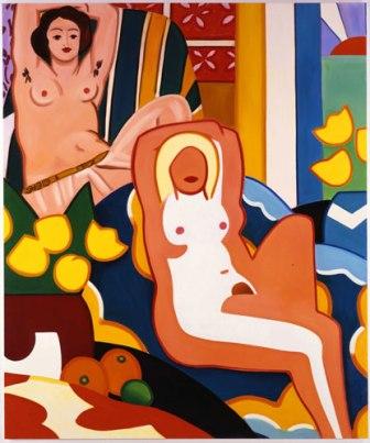Puesta de sol. Desnudo con odalisca de Matisse