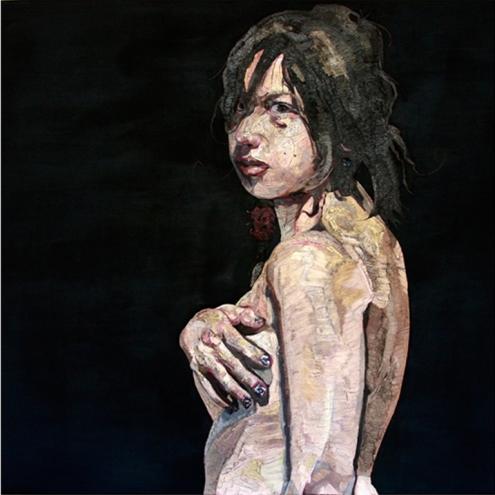 La niña con la mano en el pecho - José Antonio Farrera