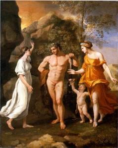 La elección de Hércules - Poussin