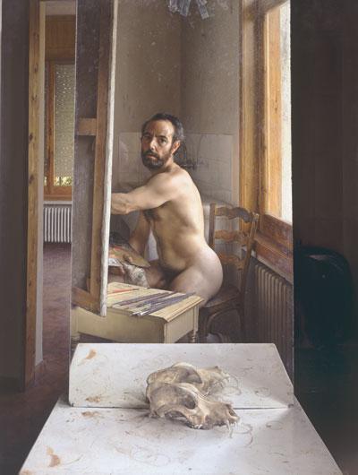 Pintando en julio - Autorretrato - Eduardo Naranjo