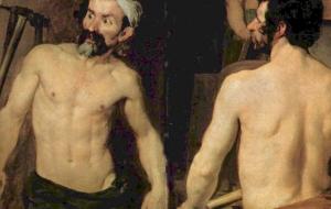"Fragmento de ""La fragua de Vulcano"" - Velázquez"