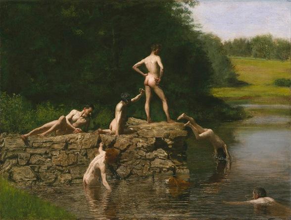 Nadando - Tomas Eakins