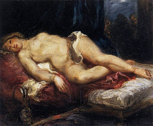 DELACROIX_Eugene_Odalisque_Reclining_on_a_Divan_1827_28