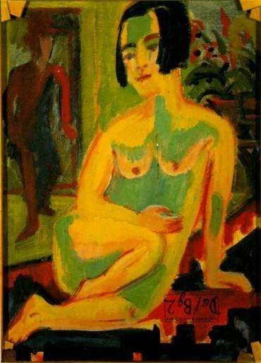 Ernst Ludwig Kirchner - Desnudo femenino sentado_ Estudio
