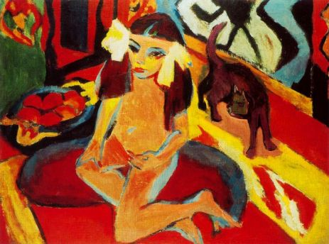 Ernst Ludwig Kirchner - Ragazza di gato_ Fr_auml_nzi