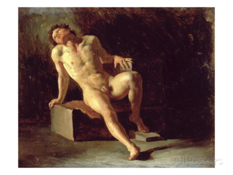 theodore-gericault-study-of-a-nude-man