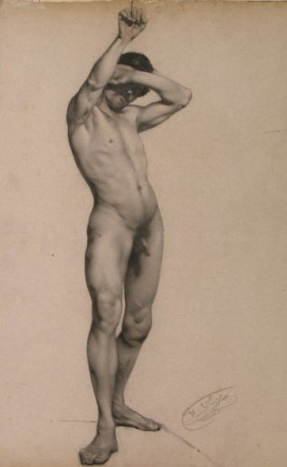 Nude with Arm Raised - Dibujo.jpg