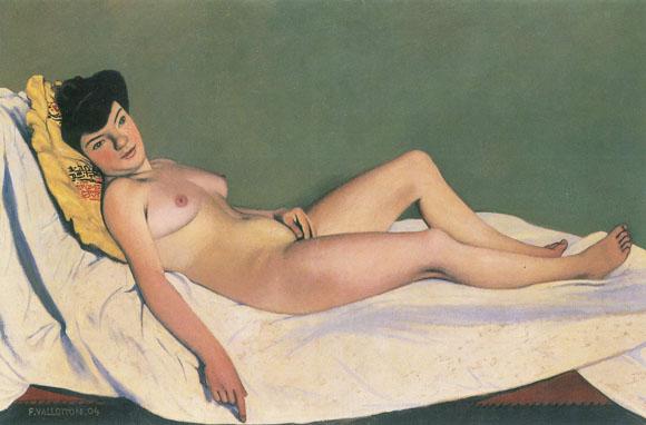 desnudo reclinado sobre un cojin amarillo.jpg