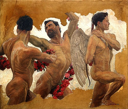 Otto Greiner - Male Nude Study - Symbolism - Great Art - Peter Crawford.jpg