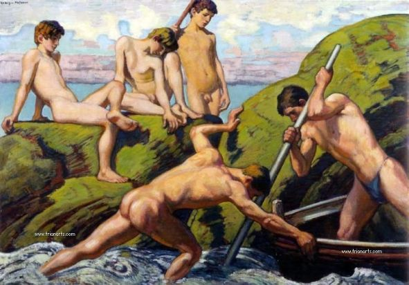 780 Ludwig von Hoffman - 10 Naked Youths and Boatmen_zps46wrprmv.jpg