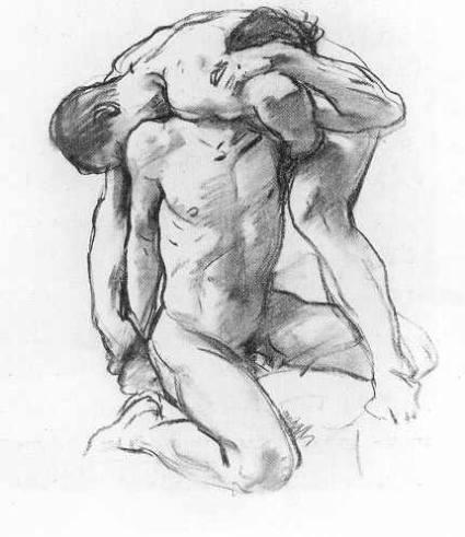 Sargent,_John_Singer_(1856-1925)_-_Male_nudes_wrestling.jpg