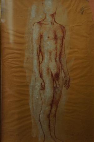 desnudo de pié, tinta roja y cuerpo blanco.jpg
