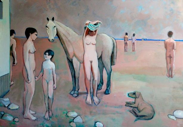 Dos mujeres en la playa, 1986.jpg