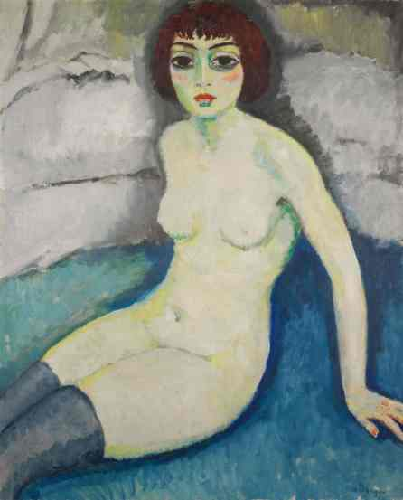 Kees van Dongen 1913 - Bas Bleus c. 1913, oil on canvas.jpg