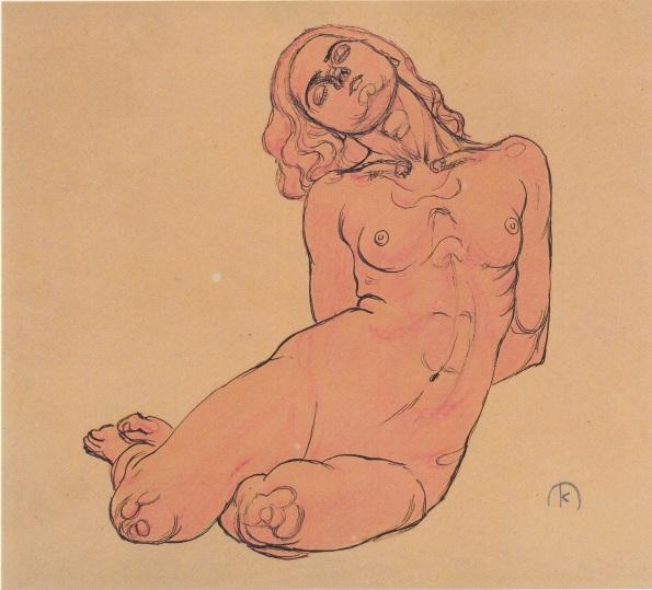 a-crouching-woman