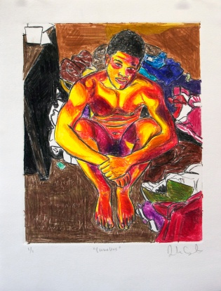 57978-1426604455-Casteel Jordan, Cornelius, 2014, Caran d'Ache Crayon Monoprint, On Paper, 10 x 13 inches.jpg