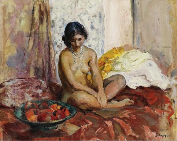 mujer egipcia con bandeja de frutas.jpg