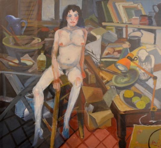 C. Alonso-Desnudo en el Taller-óleo-80 x 80.jpg