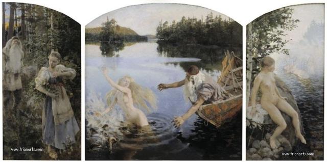 780 Akseli Gallen-Kallela - 3 Aino Myth Triptych2 1891 - Ateneum Finlandia.jpg
