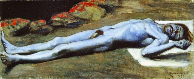 Akseli Gallen-Kallela - 14 The Slain Lemminkäinen 1896