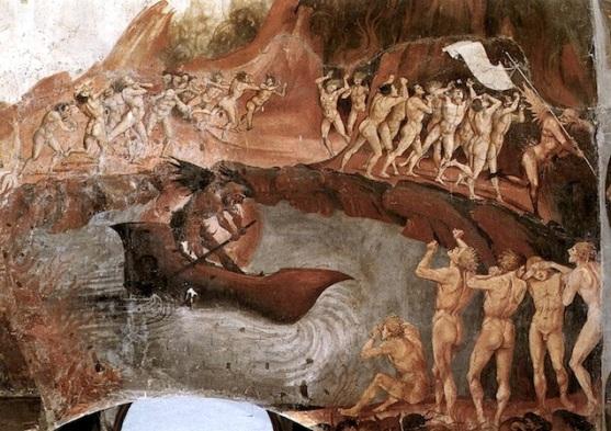 Caronte, los Condenados y los Arcángeles- lienzo.jpg