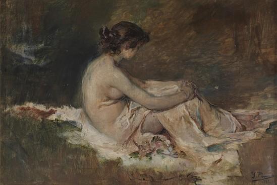 Ignacio-Pinazo-Desnudo-de-mujer