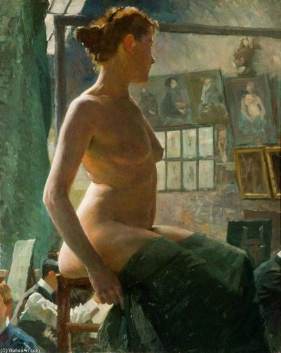 Sir+Alfred+James+Munnings-A+Female+Nude+Seated+At+Julian's+Atelier,+Rue+Du+Dragon.JPG