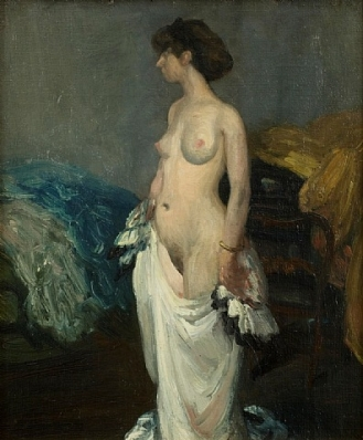 Nude Stepping out of a White Dress.jpg