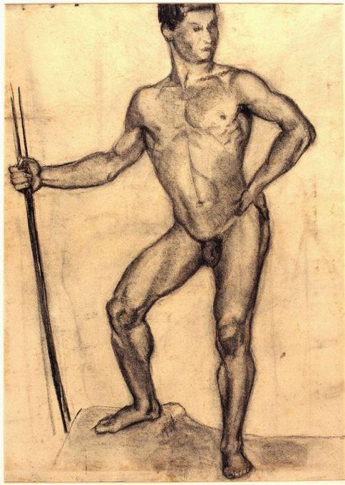 desnudo masculino con bastón.jpg