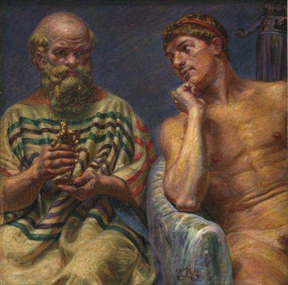 Sócrates y Alkibiades