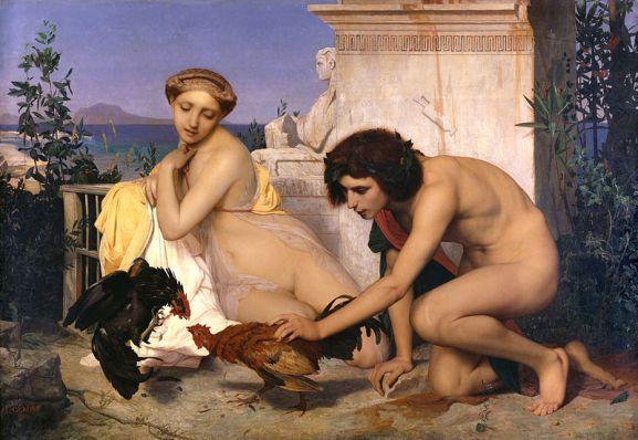 800px-JEAN-LÉON_GÉRÔME_-_Jóvenes_griegos_presenciando_una_pelea_de_gallos_(Museo_de_Orsay,_París,_1846._Óleo_sobre_lienzo,_143_x_204_cm).jpg