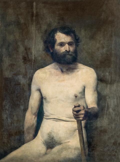 ELISEU VISCONTI - Nu masculino, sentado com bastão - Óleo sobre tela - 100 x 73 - 1891.jpg