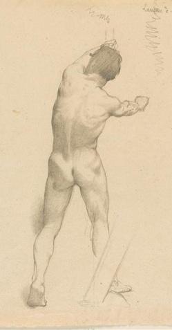 Etude d'homme nu debout, vu de dos. 31x24cm.jpg