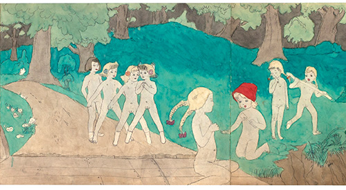 Henry-Darger_Side-B_41-at-Jennie-Richee-are-lost_c.1940-50_watercolor_Henry-Darger_Landscapes-exhibition-at-Ricco-Maresca-Gallery-NYC-2012.jpg
