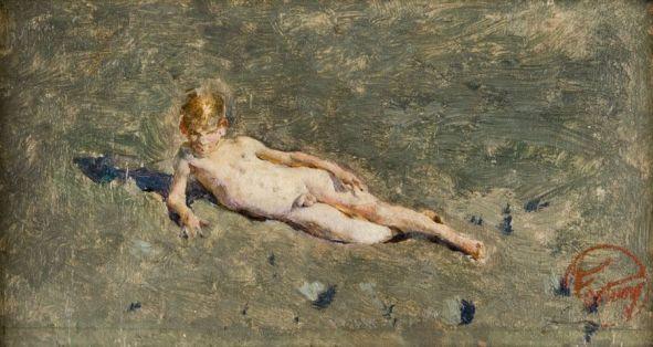 Niño desnudo en la playa de Portici.jpg