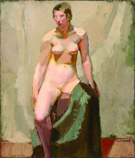 Nu assis avec un drapé vert, 1927.jpg