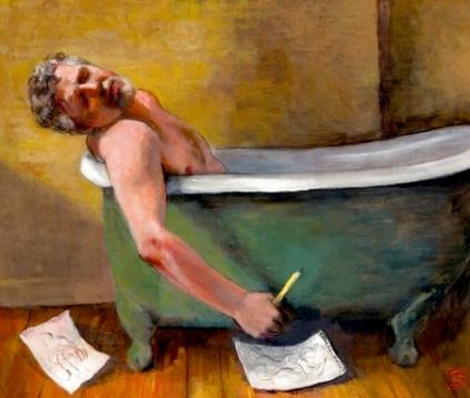 el baño del artista - autorretrato