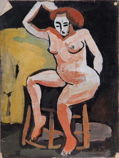 Female nude on stool 1939-1940.jpg