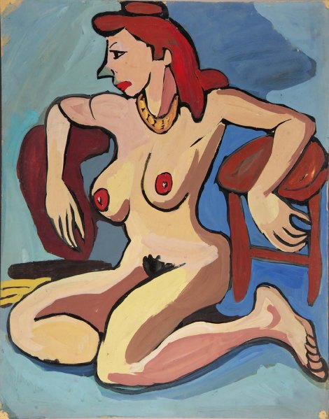 Seated Female Nude with Gold Necklace and Auburn Hair (1939-1940).jpg