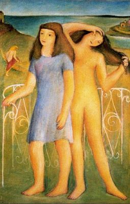 Adolescente desnuda y vestida, 1933.jpg