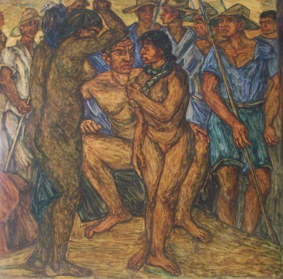 Bolivar_educado_por_los_mitos_de_la_selva, 1954.jpg