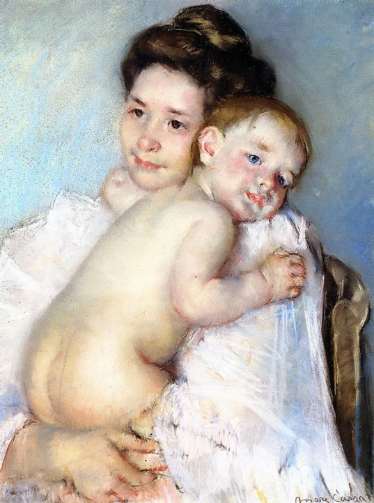 Mother Berthe holding her Baby, 1900.jpg