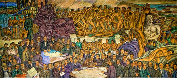 Mural de la República en el Museo de Antioquía, Medellín.jpg