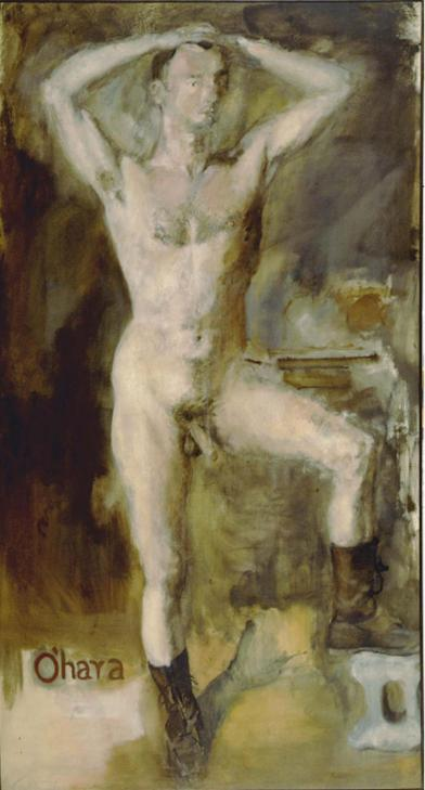 Rivers-O-Hara-Nude-with-Boots-1954-oil-on-canvas-97-x-53-inches-72dpi