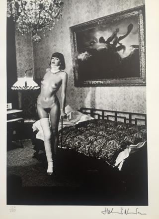 Helmut Newton Jenny Kapitan, Pension Dorian, Berlin, 1977. 35.6 x 35.6 cm.jpg